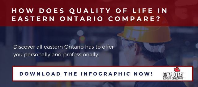 Quality of Life in Eastern Ontario Infographic